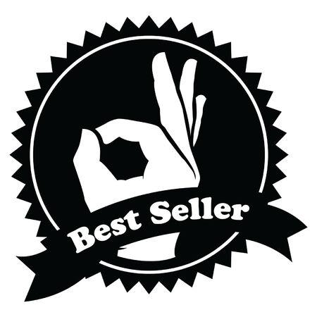 best seller: Verkaufsschild Illustration