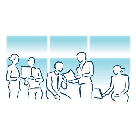 business meeting planning Иллюстрация