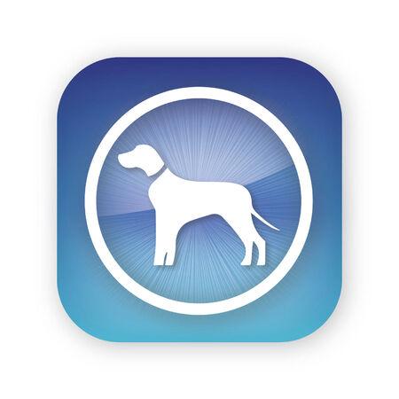 dog app button icon