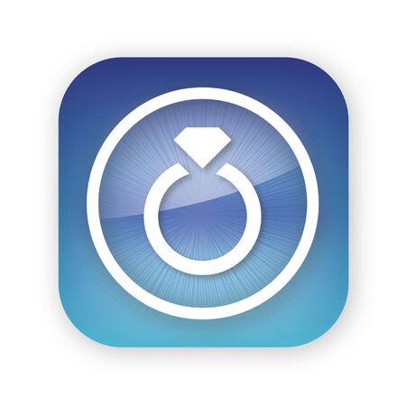 diamond ring app button Иллюстрация