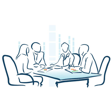 Business meeting illustration Vector