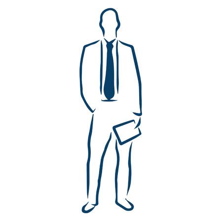 minimum wage: business man holding paper