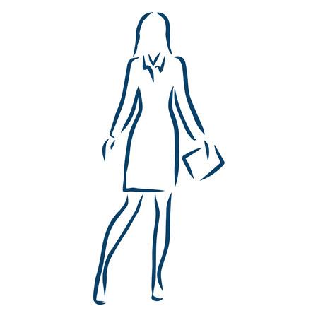 business woman Ilustracja