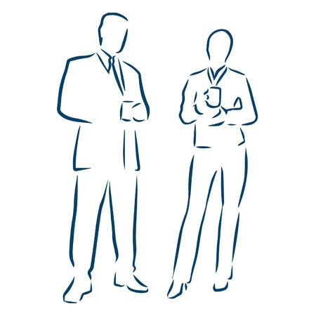 mensen uit het bedrijfsleven Stock Illustratie
