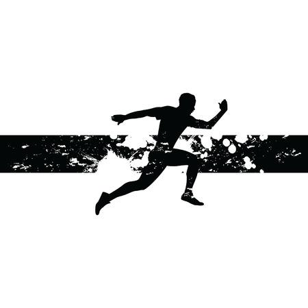 man running Vettoriali