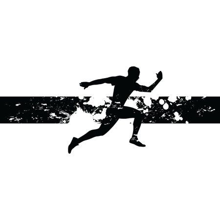 man running Illustration