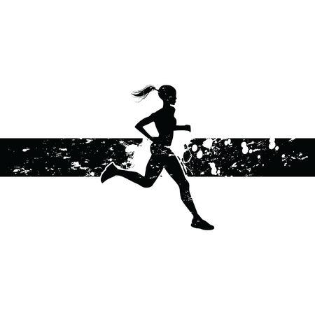 female jogging