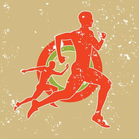 men jogging Иллюстрация
