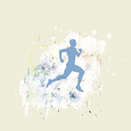 male jogging 向量圖像