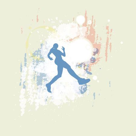 female jogger: corredora