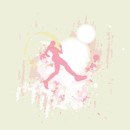 女性のジョガー