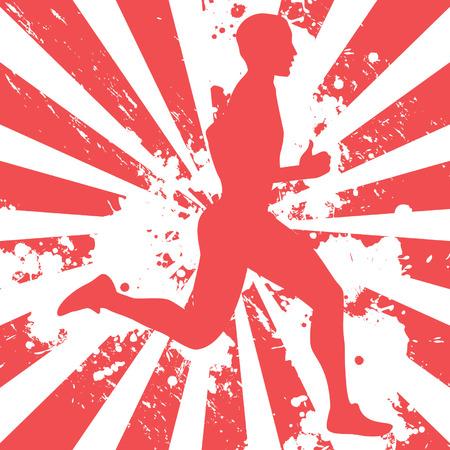 male runner 向量圖像