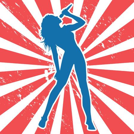 Vrouwelijke zang Stockfoto - 32213455