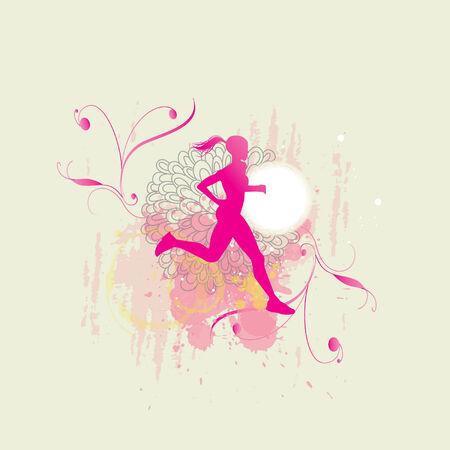 female runner Иллюстрация