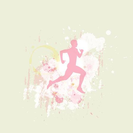 male runner Иллюстрация