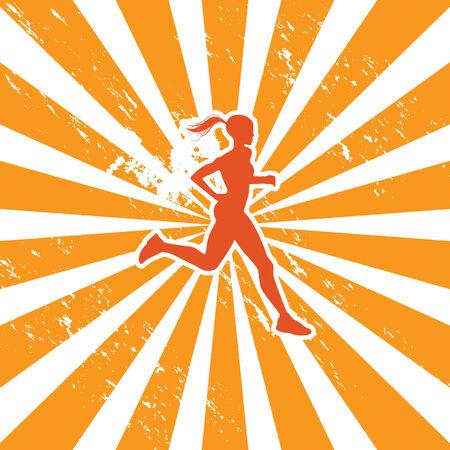 jogging female