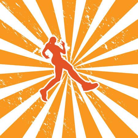 woman jogger Иллюстрация
