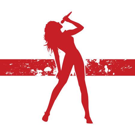singing woman Illustration