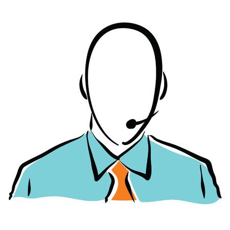 men tech support Ilustração