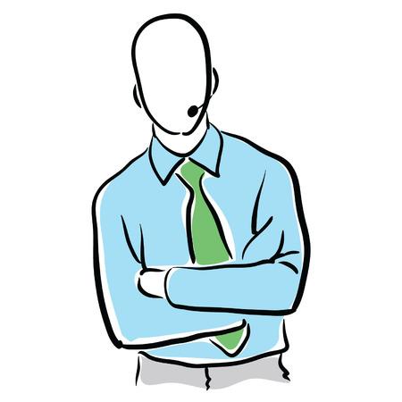 tech support mannelijke Stock Illustratie