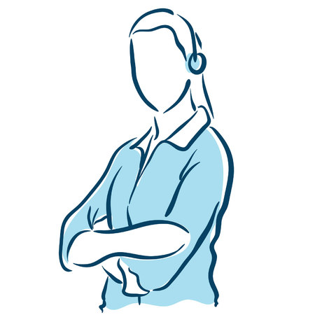 female tech support Ilustração
