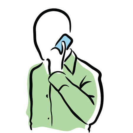 male holding cellphone Vector