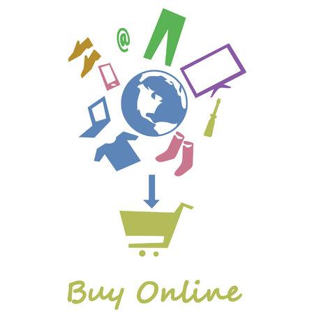 koop online Stock Illustratie