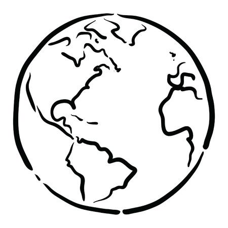 zeměkoule: Země Ilustrace