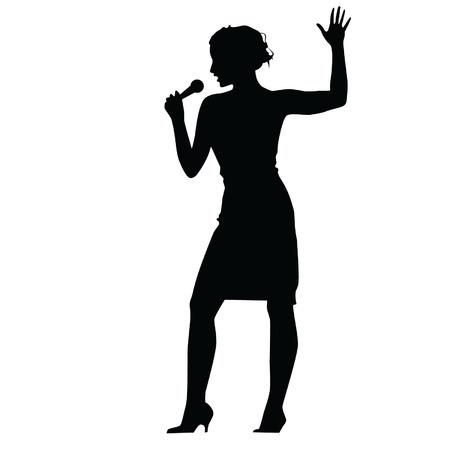 Vrouw zingen Stockfoto - 33927396