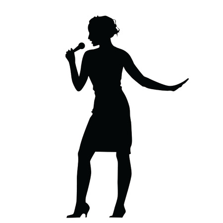 african american woman silhouette: woman singing