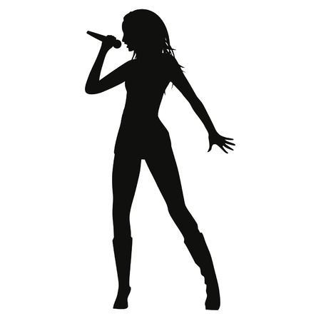 silhouette silhouettes: woman singing