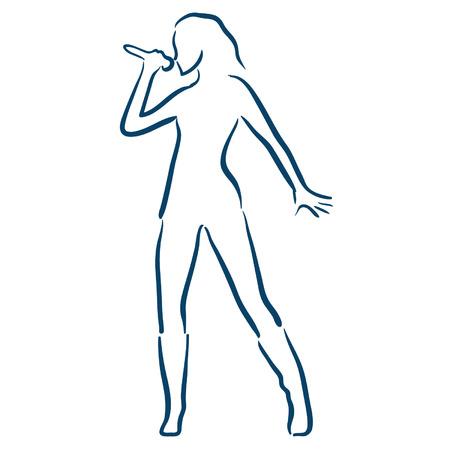 kareoke: woman singing