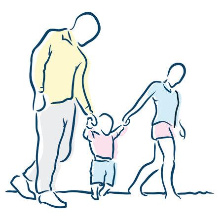 indian family: family Illustration