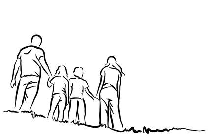 family Stock Illustratie