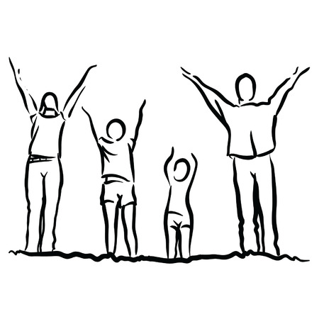 outing: family Illustration