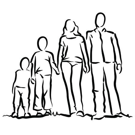 Familie Stockfoto - 35238300