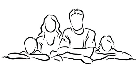 indian family: family Illustration