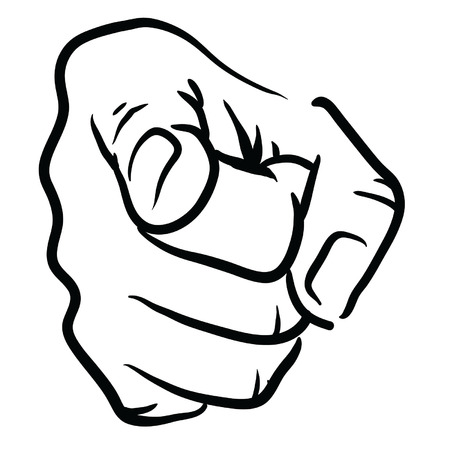 Hand Pointing  イラスト・ベクター素材