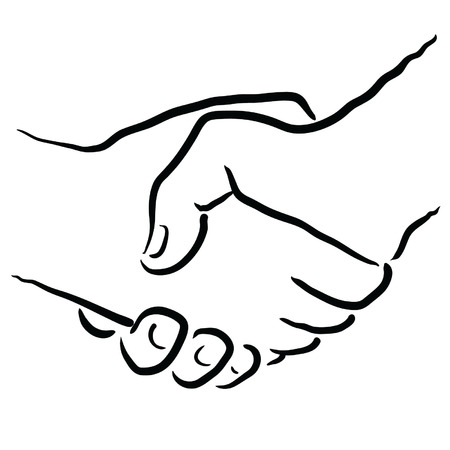 compromise: darse la mano Vectores