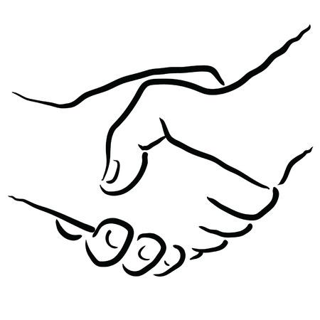 resolving: stringere la mano
