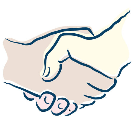 compromising: shake hands