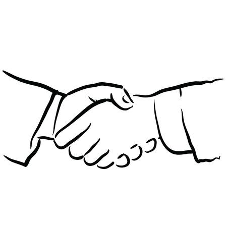 compromising: hand shake Illustration