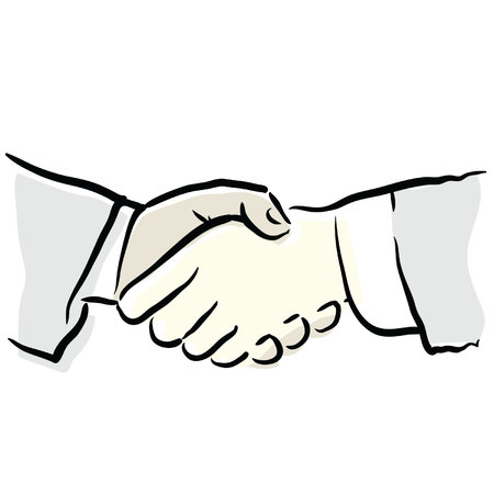 compromising: handshake Illustration