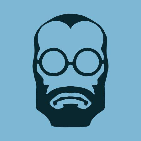 liberal: beard Illustration