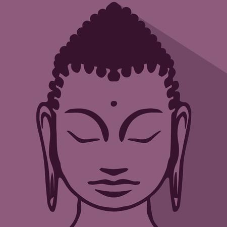 Een buddist mediteren Stock Illustratie