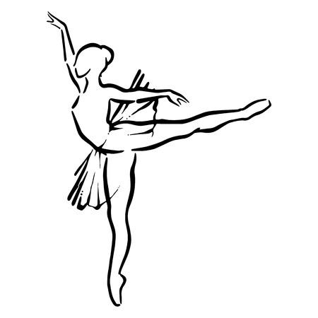 flexible woman: ballet female