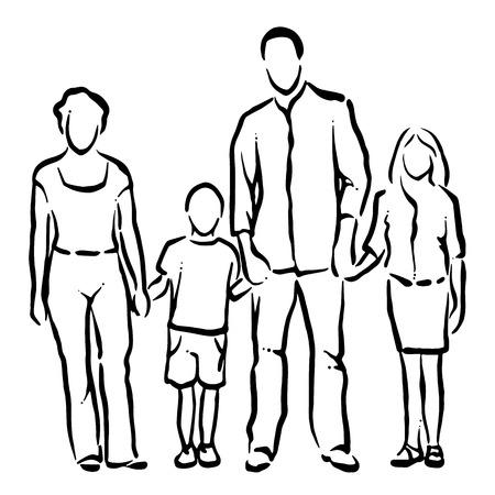 Familie Stockfoto - 42813605