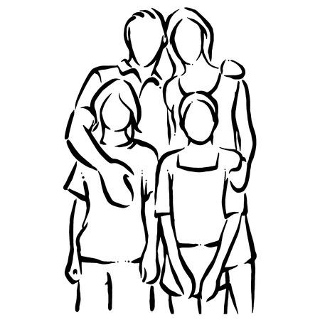 Familie Stockfoto - 42813658