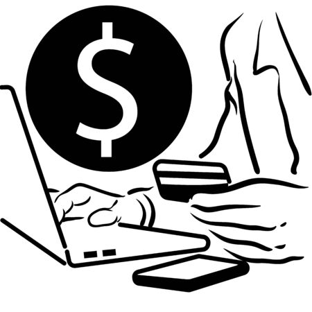 Man making an online purchase