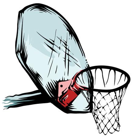 Basketbal velg Stock Illustratie